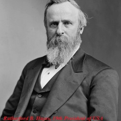 Egg Roll-President_Rutherford_Hayes_1870_-_1880_Restored 19th Presideny of USA, (Public Domain in USA )