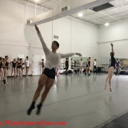 Students of Orlando Ballet School flying leap during the rehearsal (credit: Windermere Sun-Susan Sun Nunamaker)