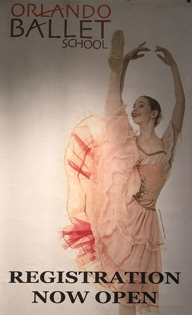 Orlando Ballet School South Campus registration poster 2 at 7988 Via Dellagio Way, Suite 204., Orlando, FL