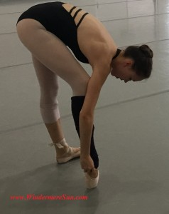 Student at Orlando Ballet School during pre-rehearsal (credit: Windermere Sun-Susan Sun Nunamaker)