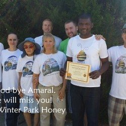 Winter Park Honey group photo with Amaral (credit: Winter Park Honey)