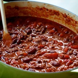 Cooked organic beef chili (credit: farmfreshdirect2u.com)