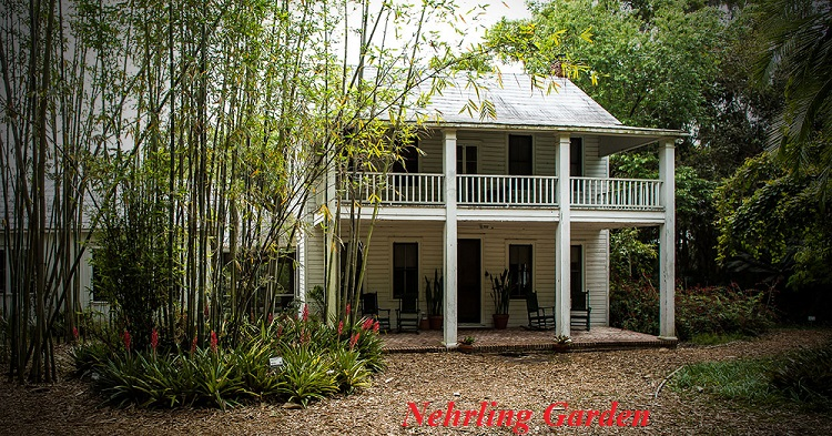 Palm Cottage Gardens (aka Henry Nehrling Estate), is a historical site in Gotha, FL. On Nov. 7, 2000, it was added to the U.S. National Register of Historic Places. (creative commons, photo author: ebyabe, Dual-licensed under the GFDL and CC-By-SA-2.5, object location: 28° 32′ 01″ N, 81° 31′ 20″ W)