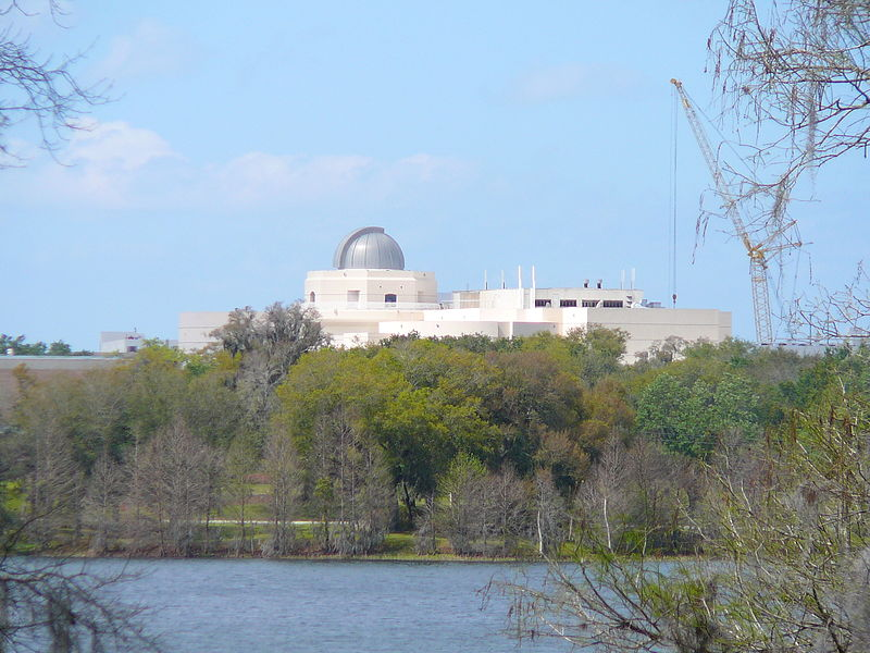 Orlando Science Center seen from Harry P. Leu's Garden (attribution: Marc Averette)