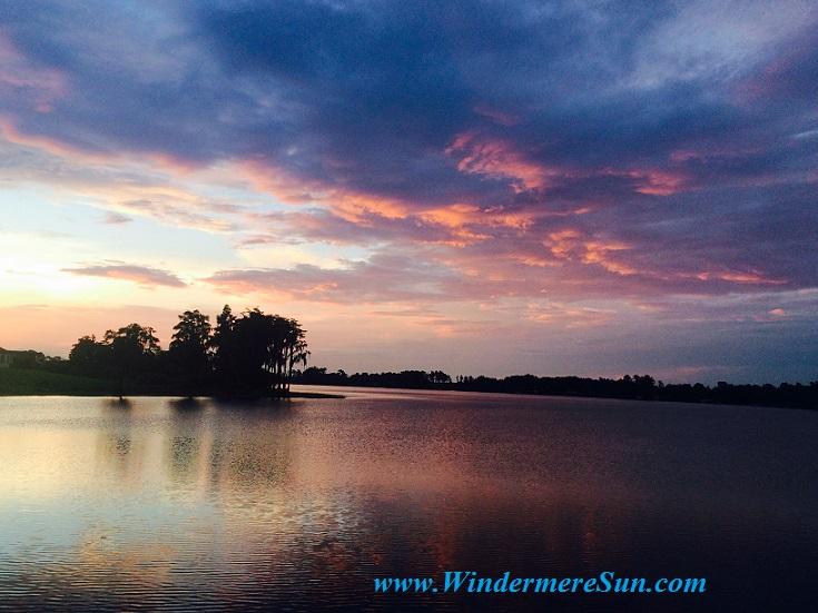 Windermere Sunset-quiet blue pastel2 (credit: Windermere Sun-Susan Sun Nunamaker)