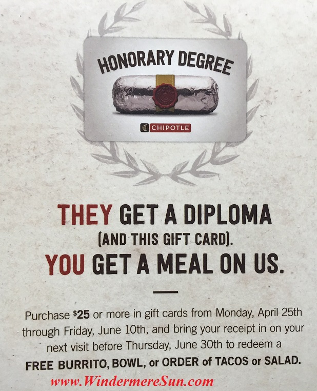 Chipotle Honorary Degree 5 (credit: Windermere Sun-Susan Sun Nunamaker)
