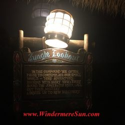 Jungle Lookout at Magic Kingdom. Many people got the same idea: Beautiful sunny day to visit Magic Kingdom (credit: Windermere Sun-Susan Sun Nunamaker)