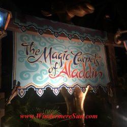 The Magic Carpet of Aladdin. Many people got the same idea: Beautiful sunny day to visit Magic Kingdom (credit: Windermere Sun-Susan Sun Nunamaker)