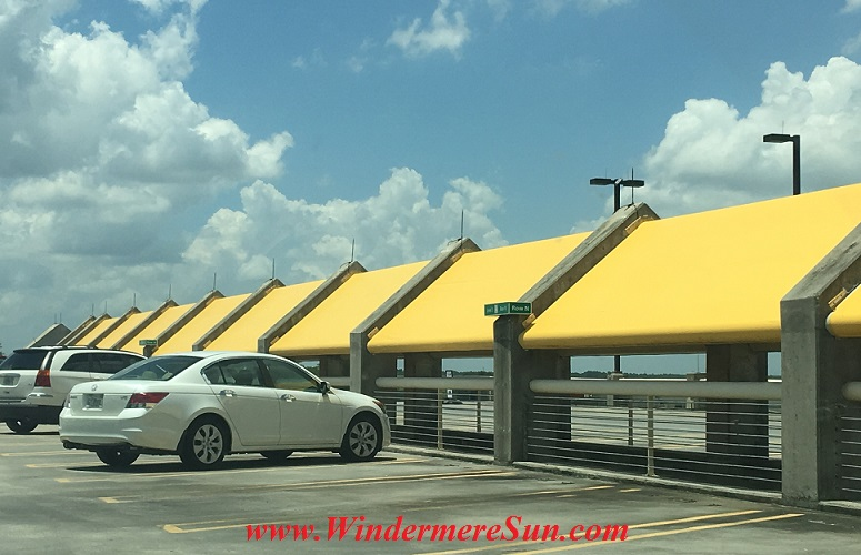 Orlando International Airport-top parking garage (credit: Windermere Sun-Susn Sun Nunamaker)
