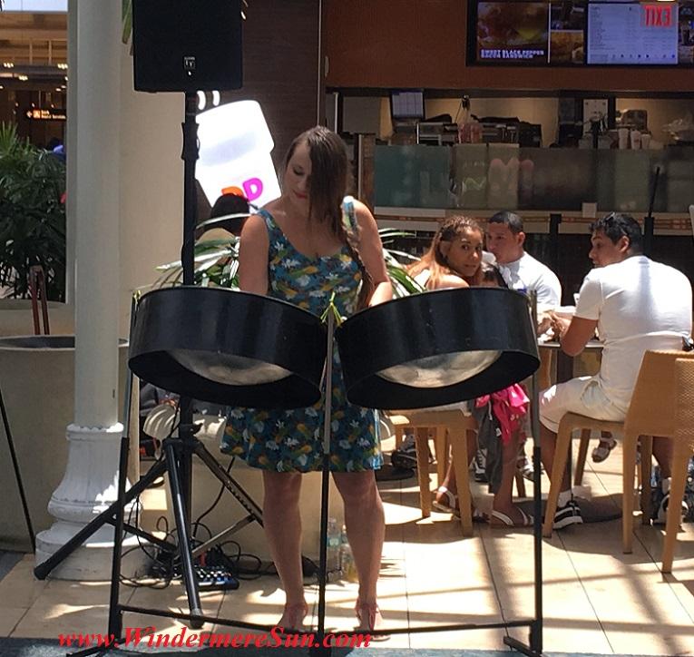 Orlando airport musician-Steel Drummer Lindsey Leigh (credit: Windermere Sun-Susan Sun Nunamaker)