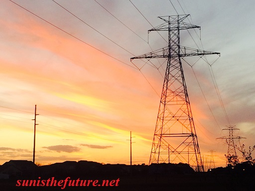 Power Line at Sunset (credit: Windermere Sun-Susan Sun Nunamaker)