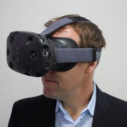 VR headset called the HTC Vive Developed in co-production between HTC and Valve Corporation.HTC_Vive_(16) CC (credit: Maurizio Pesce)
