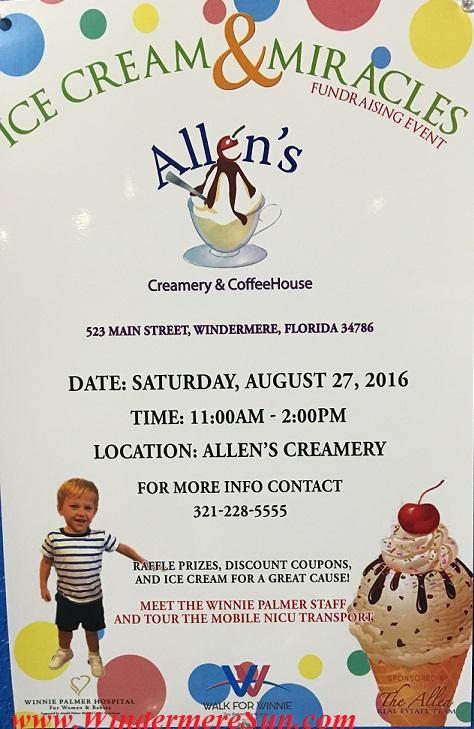 Allen's Creamery & Coffee House interior10 ice cream & miracles fundraising event