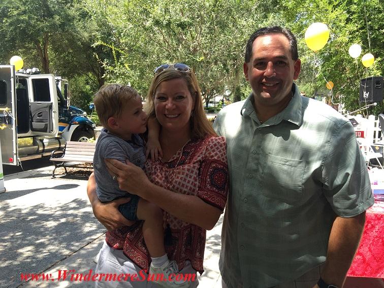 The Alens (Aston, Amy, Matt) at fundraising (credit: Windermere Sun-Susan Sun Nunamaker)