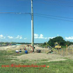 Pole where wire attached construction (credit: Windermere Sun-Susan Sun Nunamaker)