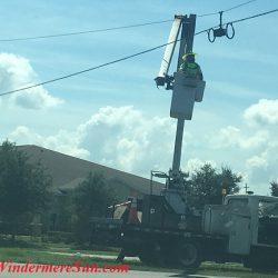 Traffic light upgrade at 535-Lake Sawyer Dr (credit: Windermere Sun-Susan Sun Nunamaker)