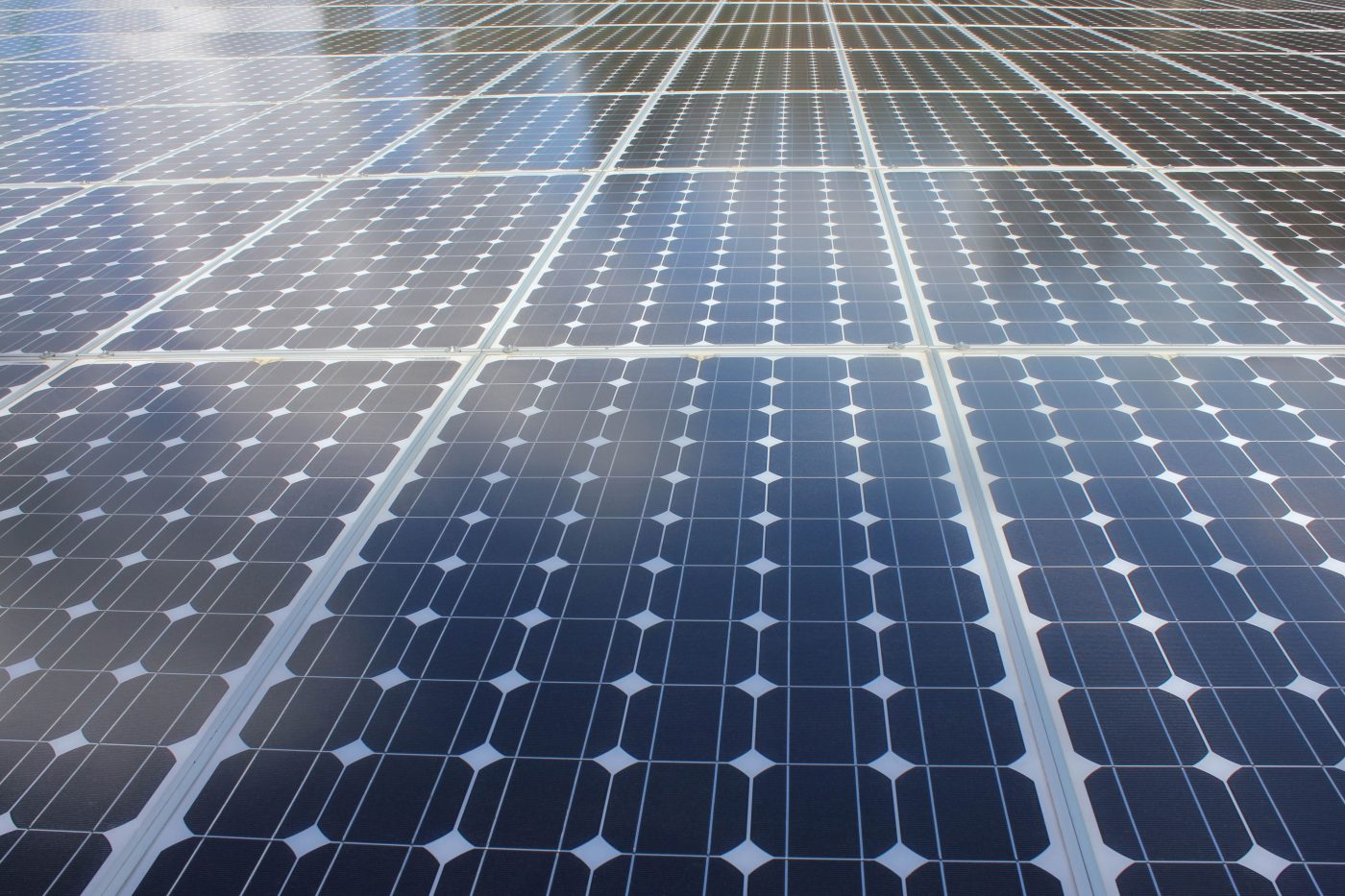 Solar Panels Reflecting the Sky, by Debbie Mous, brought to you by WindermereSun.com