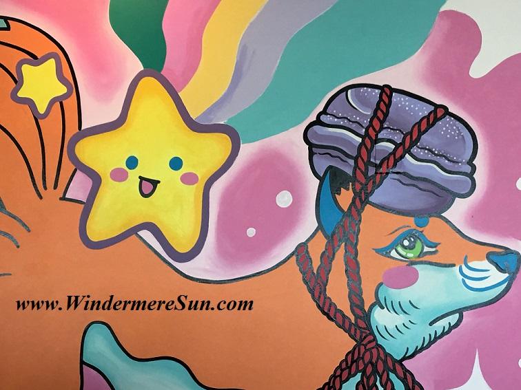 Quickly Boba & Snow-Wall Mural (credit: Windermere Sun-Susan Sun Nunamaker)