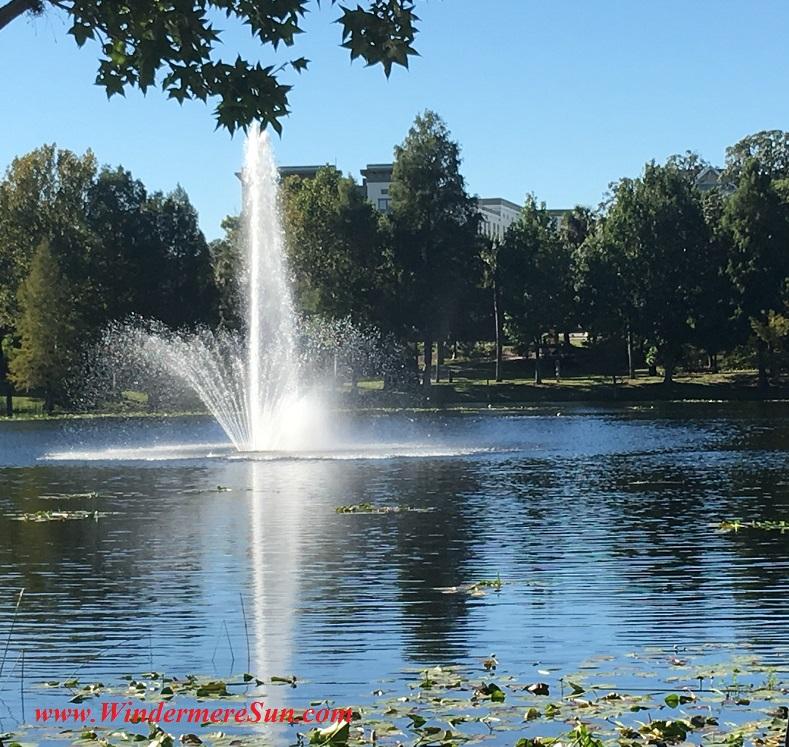 Fountain at Lake Lily Park (credit: Windermere Sun-Susan Sun Nunamaker)