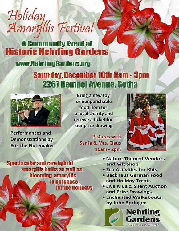 Holiday Amaryllis Festival of Nehrling Gardens