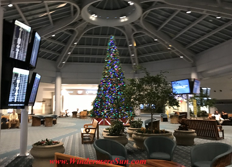 Arriving at the terminal of Orlando International Airport (credit: Windermere Sun-Susan Sun Nunamaker)