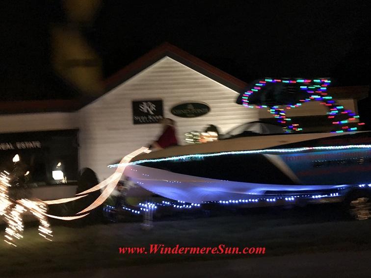 Holiday Lights at Santa's Boat near Windermere Town Square (credit: Windermere Sun-Susan Sun Nunamaker)