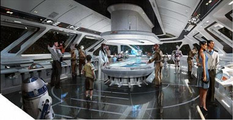 Star War Land Starship Resort Hotel concept final